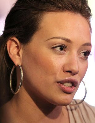 Hilary Duff Sterling Hoop Earrings