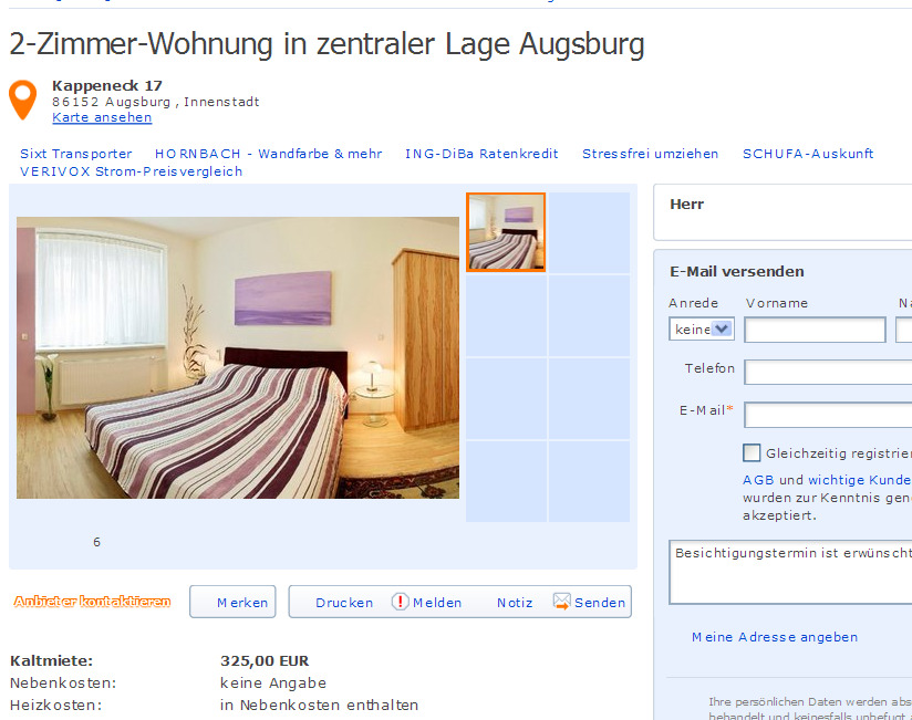 dann simonss 2 zimmer wohnung in zentraler lage vorkassebetrug fraud scam. Black Bedroom Furniture Sets. Home Design Ideas