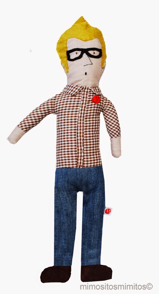 muñeco personalizado hecho a mano customized handmade stuffed  toy