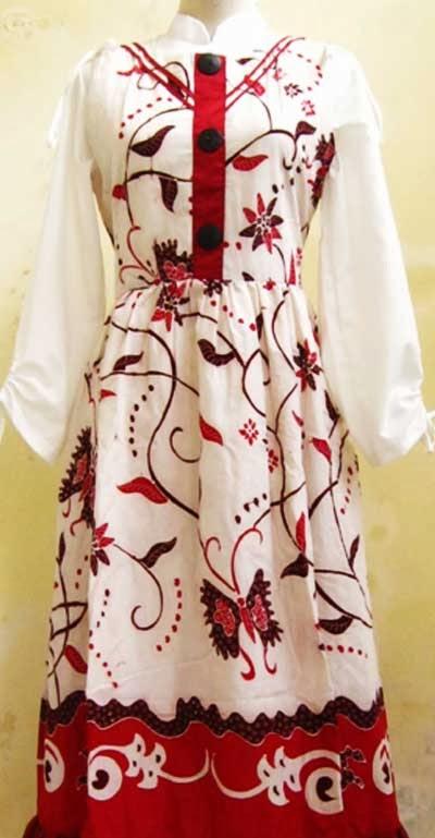 Model Baju Gamis Batik Trendy Dan Modern