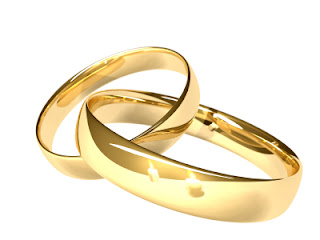 Lindo par de alianças de casamento
