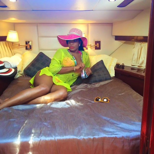 Chika Ike Shares More Lovely Photos Aboard Her Rented Yatcht