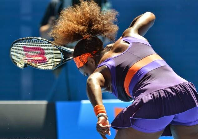 smešne slike: Serena Villiams sa slomljenim Reketom za tenis