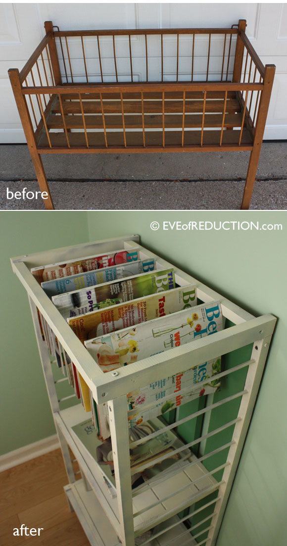 Upcycle baby crib the tub connection for Furniture upcycling