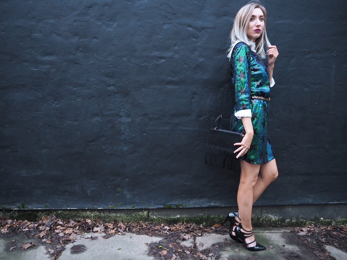 Star Sequin Shift Dress Boohoo - Rock On Holly Blog