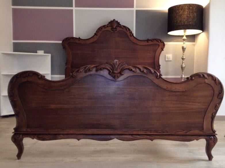 Madame vintage antigua cama de casta o recuperada - Camas de madera antiguas ...