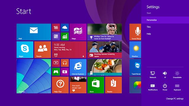 Cara Merubah Background Menu Start Windows 8.1