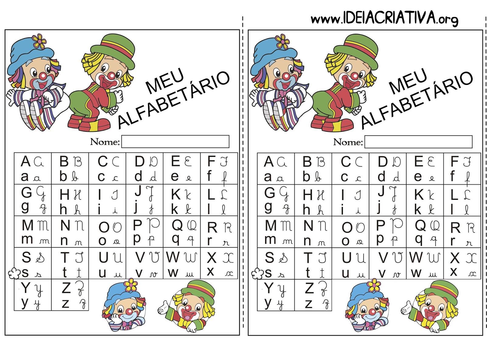 Alfabetário para imprimir grátis Patati Patatá
