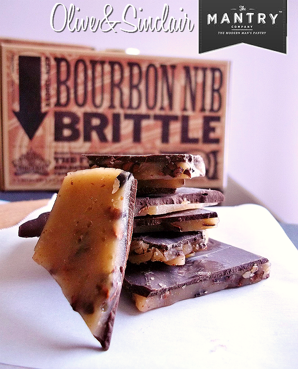 MANTRY- Modern Man's Pantry Subcription Box, Hand Picked Artisan Foods and Ingredients- Olive And Sinclair Bourbon Brittle
