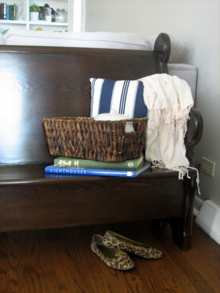 Decorating with a church pew: Make it comfortable | DIY Playbook