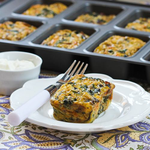 Swiss Chard and Mushroom Squares