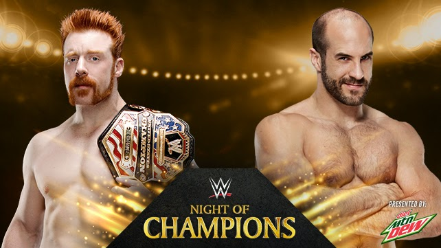 Night of Champions 2014 » Sheamus VS Cesaro (United States Championship)