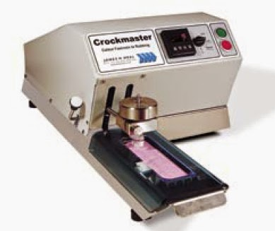 Crockmaster for rubbing fastness test