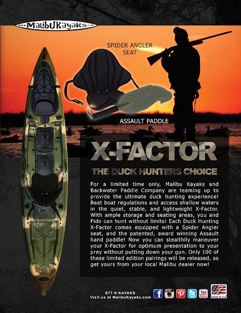 xfactor duck hunting kayak