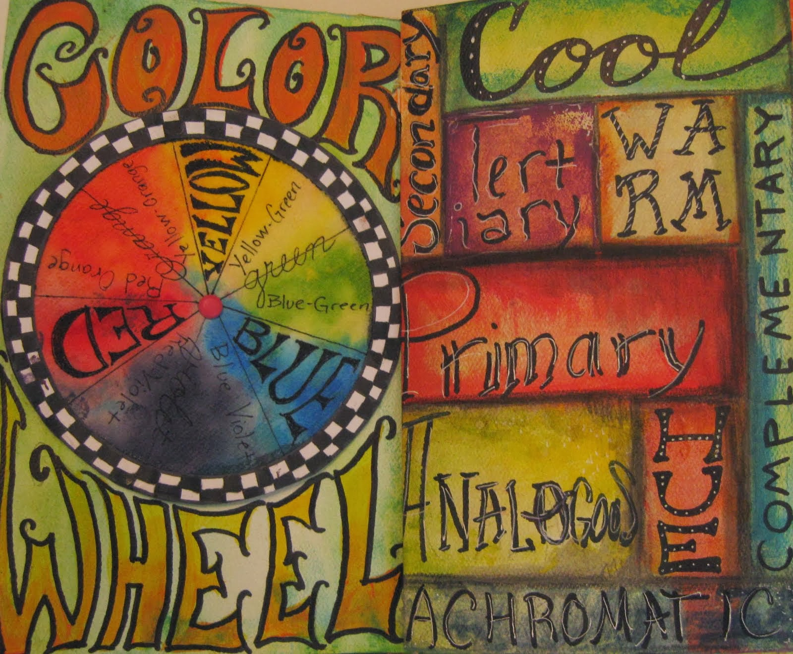 Color Wheel and Art Vocabulary Journal Pages