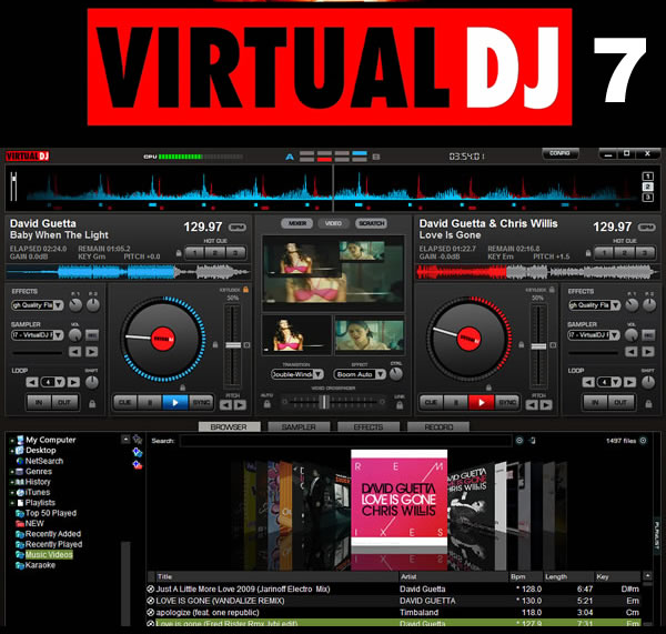 Virtual dj version 7 7 4 fighty industry - Logiciel table de mixage dj gratuit francais ...