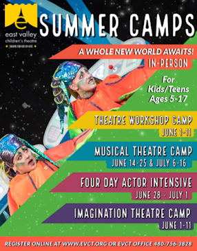 THIS MONTH'S SITE SPONSOR:  East Valley Children's Theatre presents