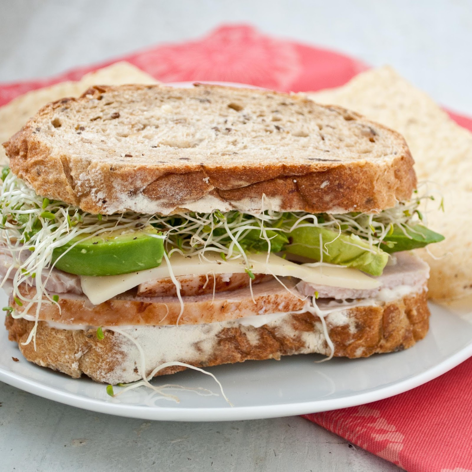 Turkey, Avocado, and Sprout Sandwich | Neighborfood
