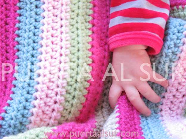 PUERTA AL SUR: Una mantita para el recién nacido!!!
