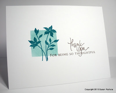 simple one-layer thank you card