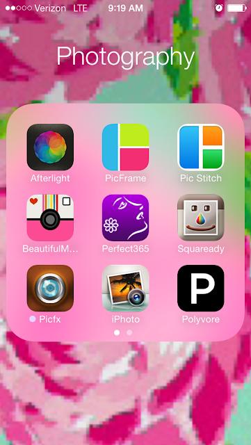 iOS 7 folders on iPhone