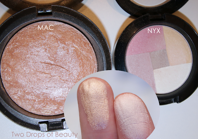 NYX mosaic highlighter MPB01 compare with MAC