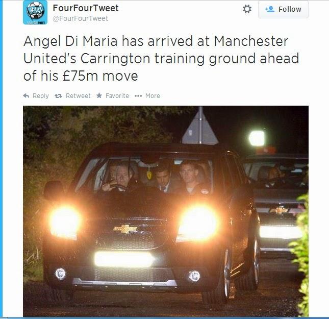 Di Maria sudah tiba di Manchester United