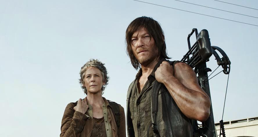 Carol and Daryl on Fire