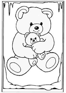 mewarnai gambar beruang