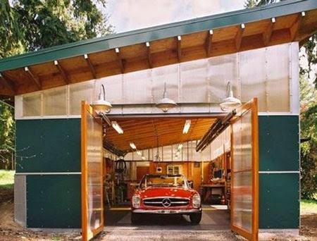 Desain Garasi Mobil Klasik