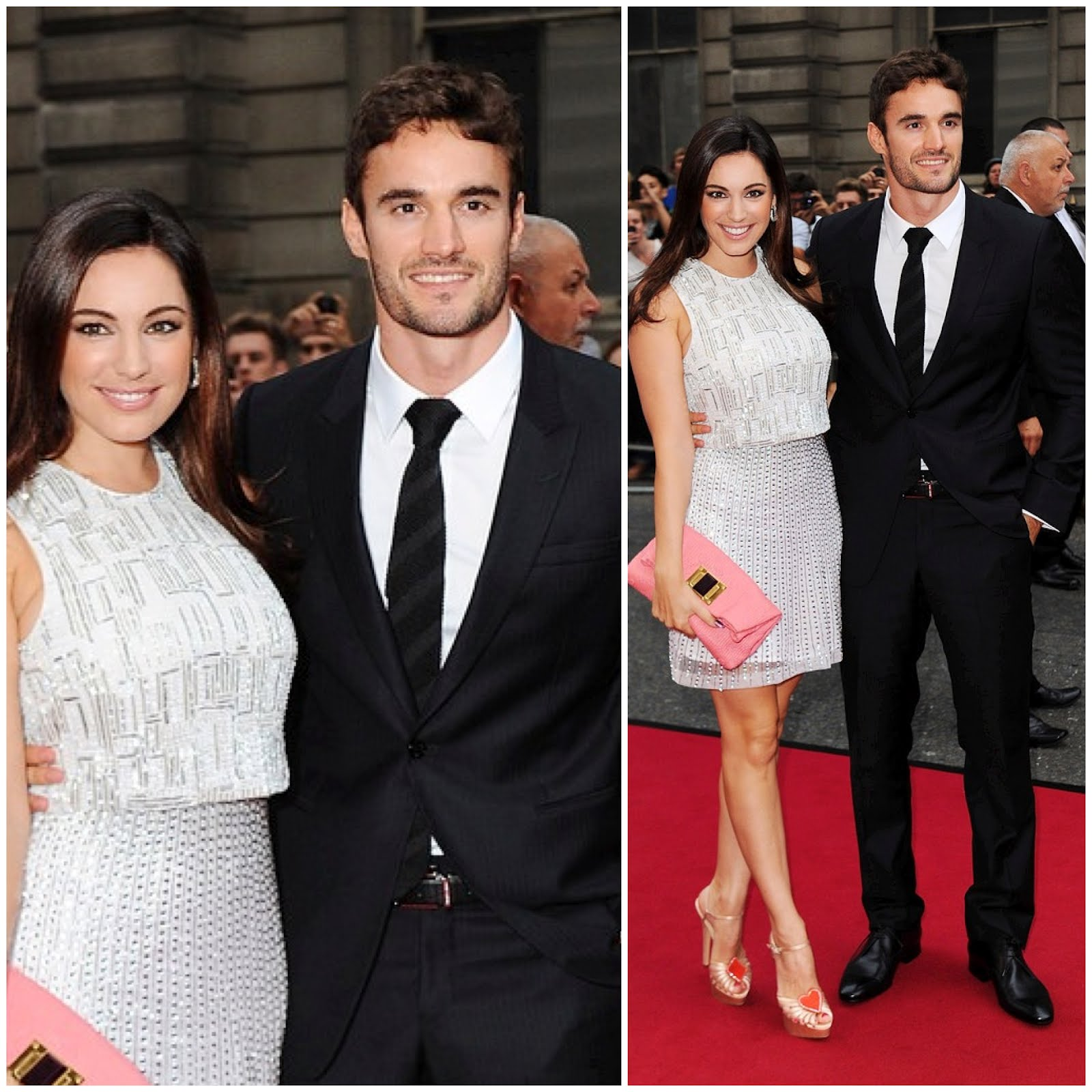 00O00 London Menswear Blog Kelly Brook with boyfriend Thom Evans attends the GQ Men of the Year Awards 2012 at The Royal Opera House on September 4, 2012 in London, England.