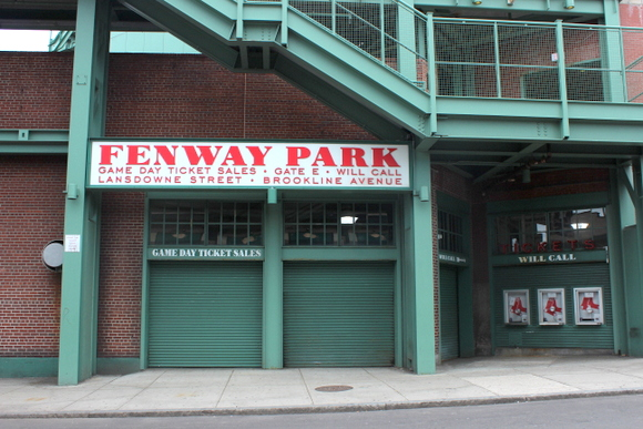This area in Fenway Park is for ticket sales and will call.