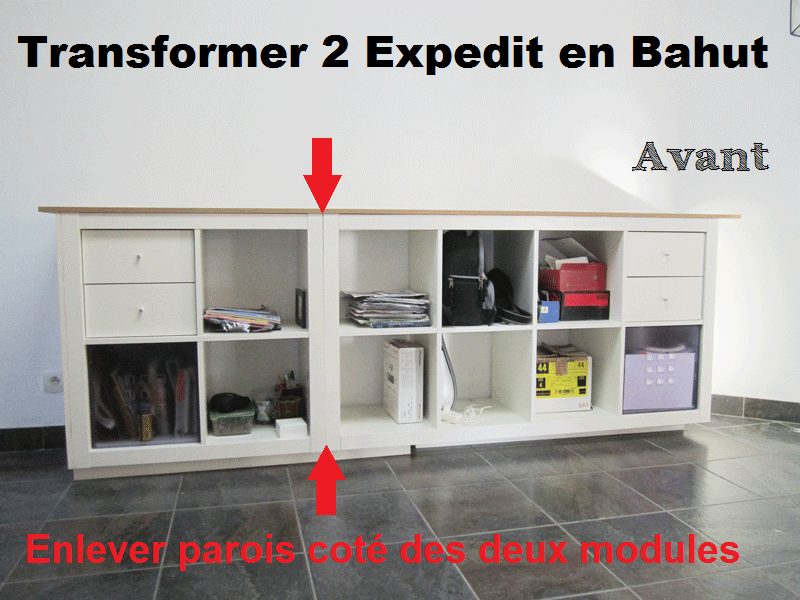 Hack ik a expedit pisode 1 3 r aliser une enfilade ou bahut au 303 home deco - Kallax 4 cases ...