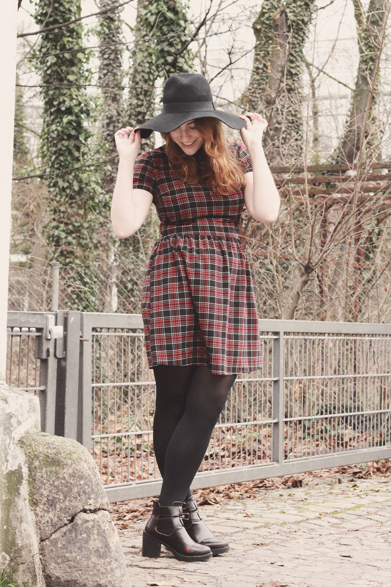 River Island tartan dress