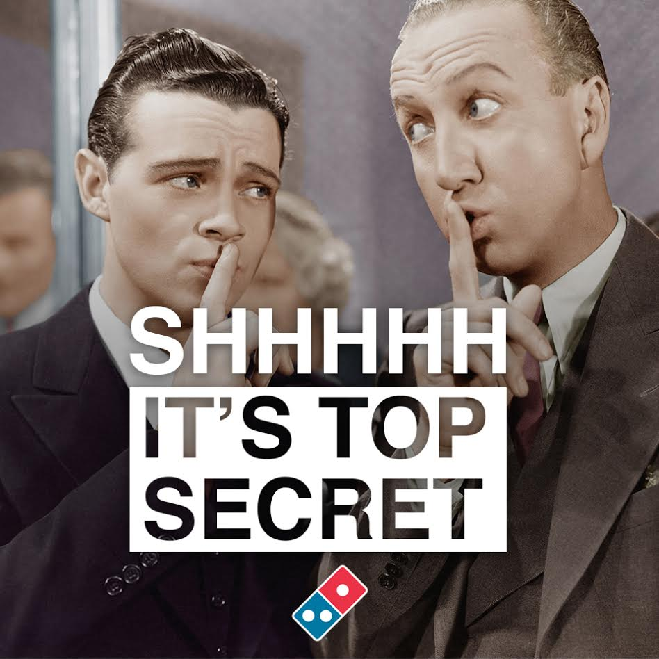 It's Top Secret #DTopSecret