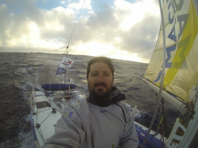 Yoann Richomme, skipper Macif sur la Lorient Horta Solo