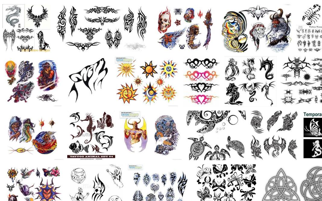 Tetování - motivy a vzory (katalog)