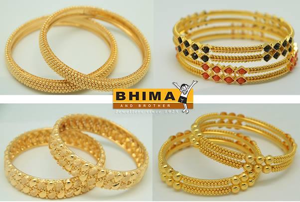 Beautiful 22k Gold Bangles Designs
