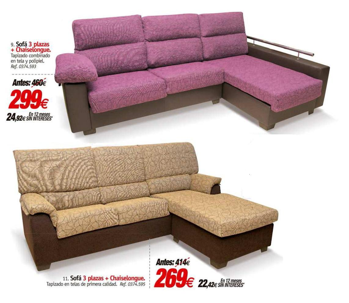 Rapimueble la carolina chaiselongue de primera calidad al for Sofas ofertas