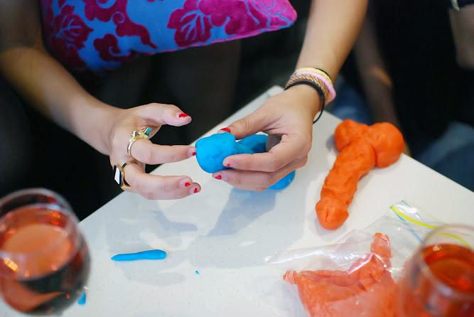 Hens Bridal Wedding Party Ideas Play dough Pecker Game