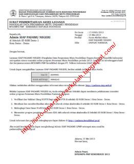 Surat Edaran Id login dan Kode Aktivasi Akun Verval