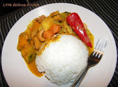 ... indian style vegetable curry with some chinese style ingredients