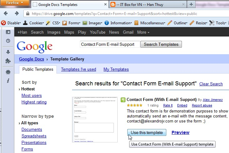 How To Create A Google Docs Contact Form To Your Website - -- IT Box ...