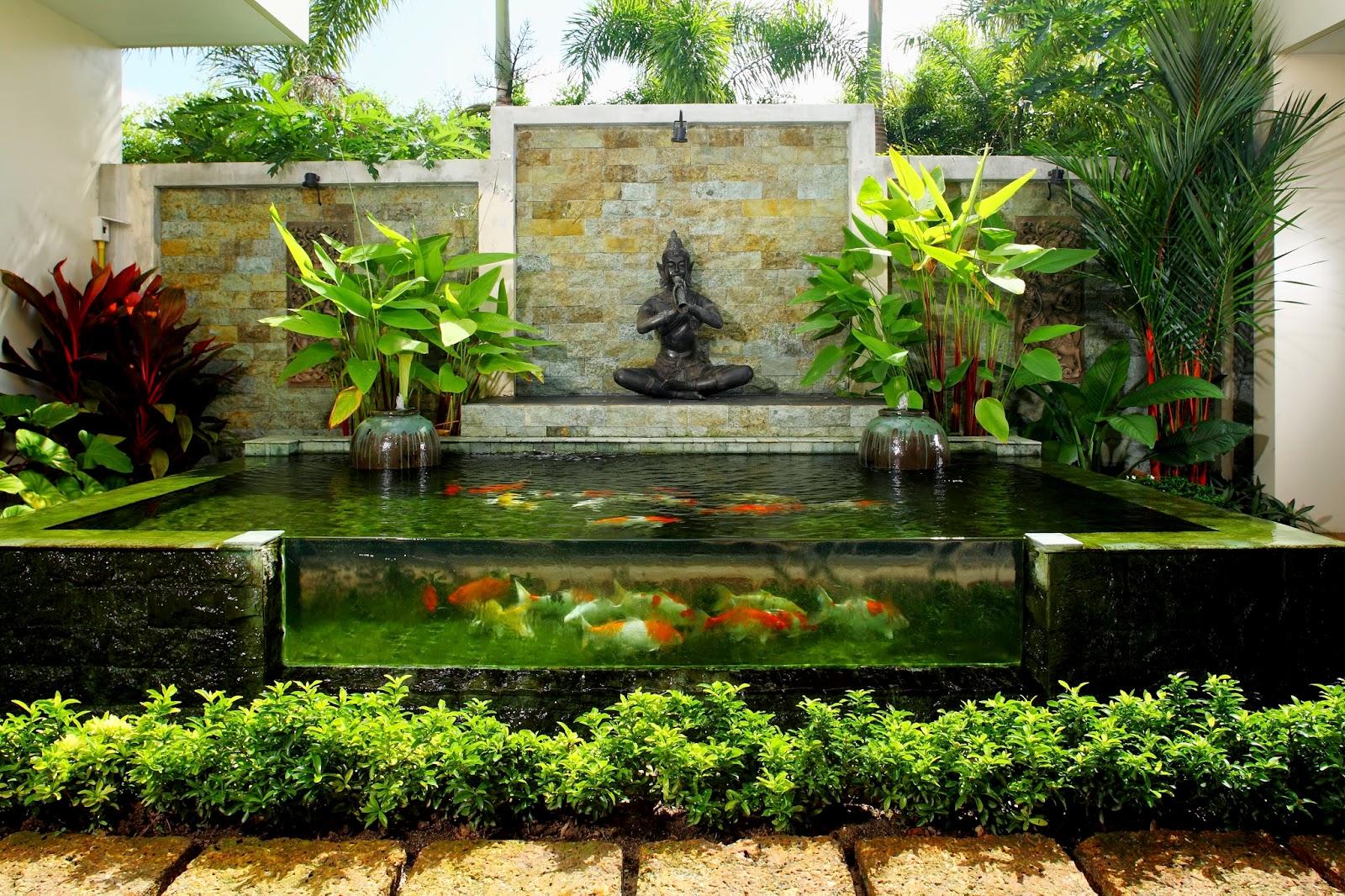 Jual ikan hias koi di bali tips cara merawat kolam ikan koi for Koi pool villa