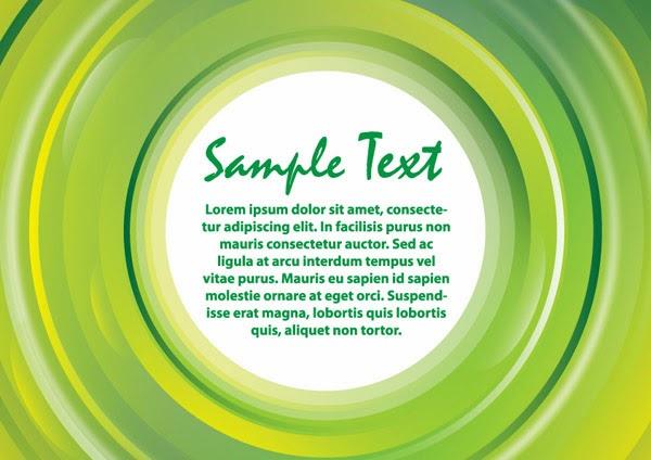 Green banner light card