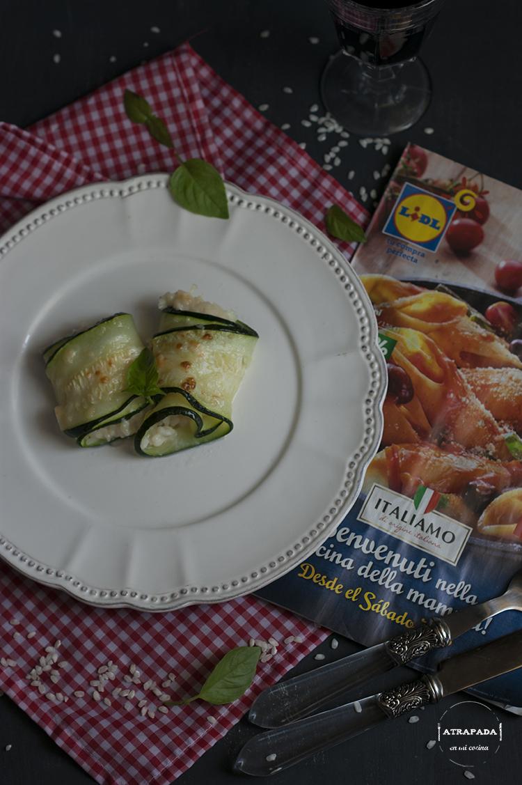 Canelones de calabac n rellenos de risotto a la parmesana atrapada en mi cocina - Canelones en microondas ...