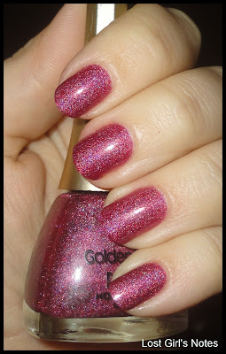 golden rose holographic nail polish 108 burgundy