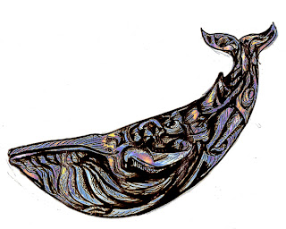 endangered species art, Xavier Cortada, blue whale