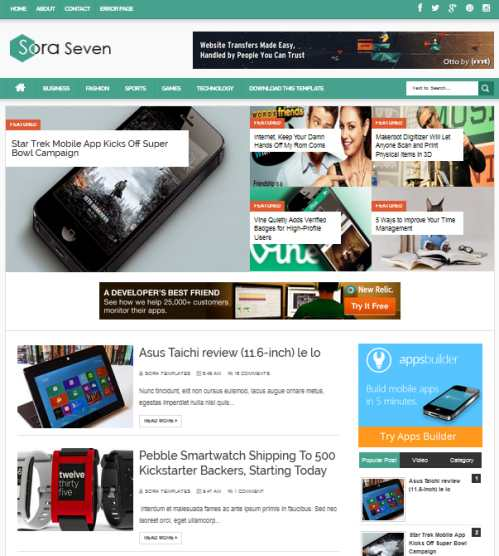 Template Blog Sora Seven – Responsive Design Seo Friendly