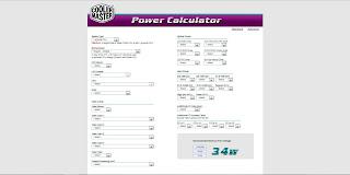 Power Supply Wattage Calculator